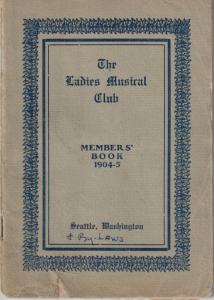 1904-1905 Members' Book