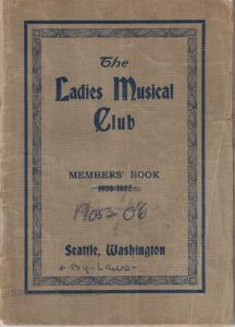 1905-1906 Members' Book