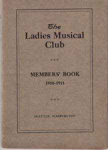 1910-1911 Members' Book