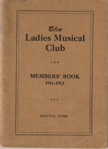 1911-1912 Members' Book