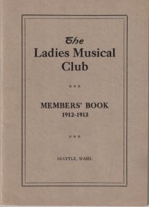 1912-1913 Members' Book