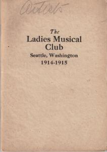 1914-1915 Members' Book