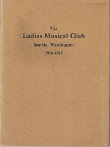 1916-1917 Members' Book