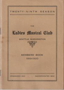 1919-1920 Members' Book