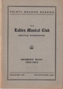 1922-1923 Members' Book