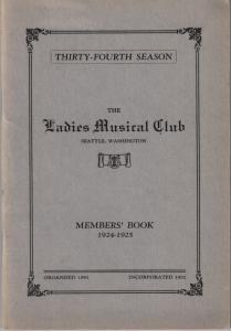 1924-1925 Members' Book