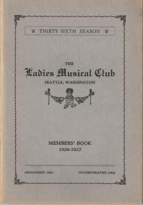 1926-1927 Members' Book