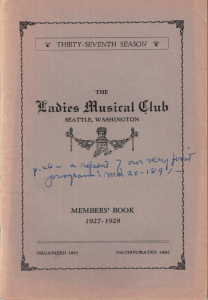1927-1928 Members' Book