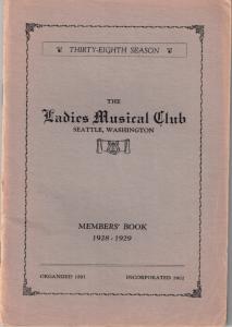 1928-1929 Members' Book