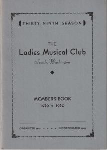 1929-1930 Members' Book