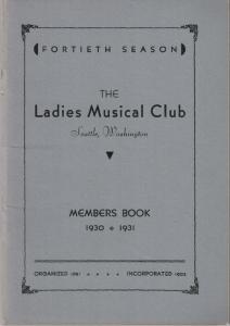 1930-1931 Members' Book