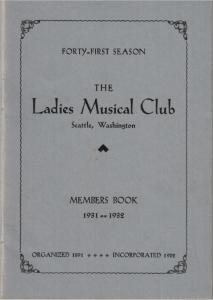 1931-1932 Members' Book