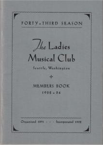 1932-1934 Members' Book