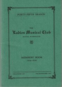 1934-1936 Members' Book