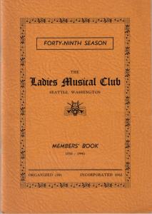 1938-1940 Members' Book