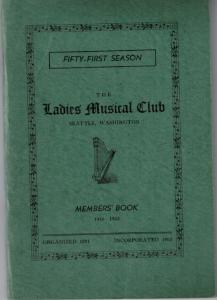 1940-1942 Members' Book