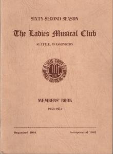 1950-1952 Members' Book