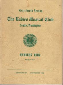 1952-1954 Members' Book