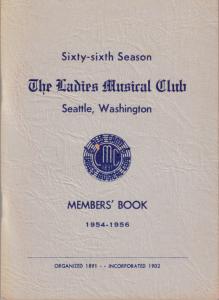 1954-1956 Members' Book