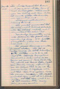 1955-1956 LMC Secretary's Minutes