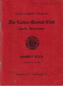 1956-1958 Members' Book
