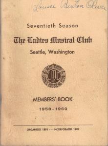 1958-1960 Members' Book