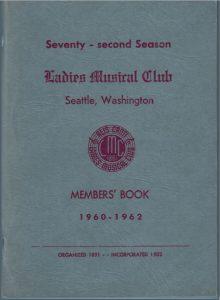 1960-1962 Members' Book