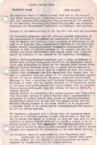 1962-1964 LMC Secretary's Minutes