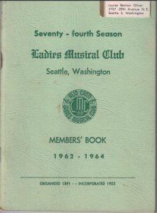 1962-1964 LMCMembers' Book