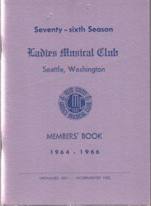 1964 - 1966 LMC Members' Book