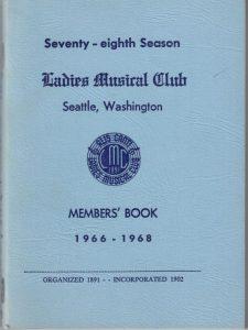 1966 - 1968 LMC Members' Book