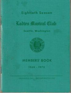 1968 - 1970 LMC Members' Book