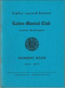 1970 - 1972 LMC Members' Book