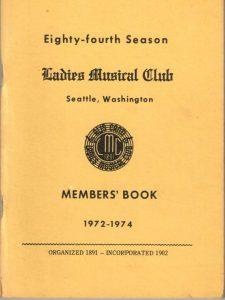 1972 - 1974 LMC Members' Book