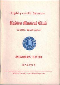 1974 - 1976 LMC Members' Book