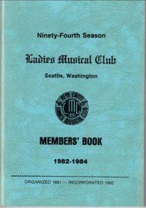 1982 - 1984 LMC Members' Book